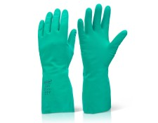 Nitrile Green Glove Lined