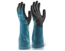 "Nitrile 14"" Chemical Resistant F/coated Gauntlet"
