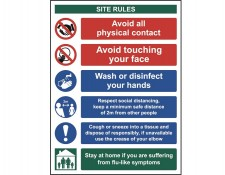 Social Distancing & Hygiene Safety Sign  300 x 400