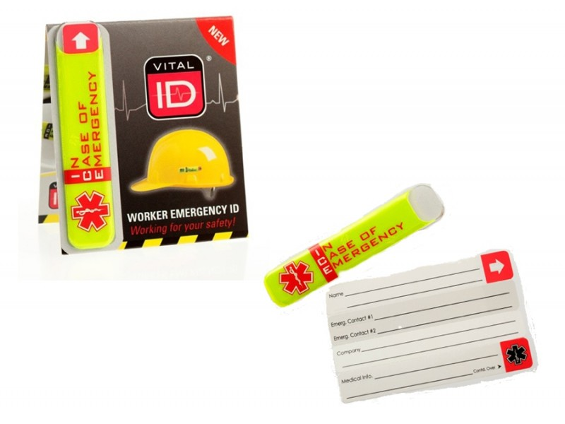 Emergency Safety Helmet ID Tag